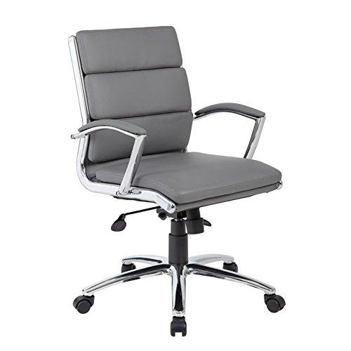Boss Office Executive CaressoftPlus Chair with Metal Chrome Finish - Mid Back