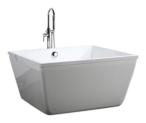 Bologna 47 inch Freestanding Bathtub in Glossy White