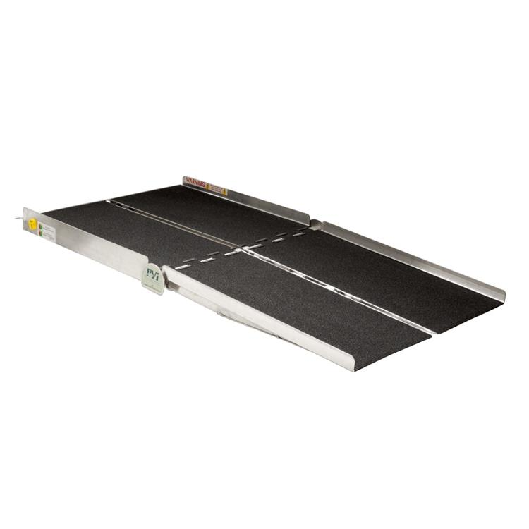 6-ft x 36-in Portable Bariatric Multifold Wheelchair Ramp 800 lb. Weight Capacity, Maximum 12-in Rise