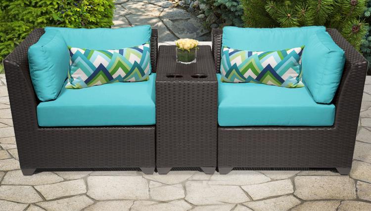 Barbados 3 Piece Outdoor Wicker Patio Furniture Set 03b