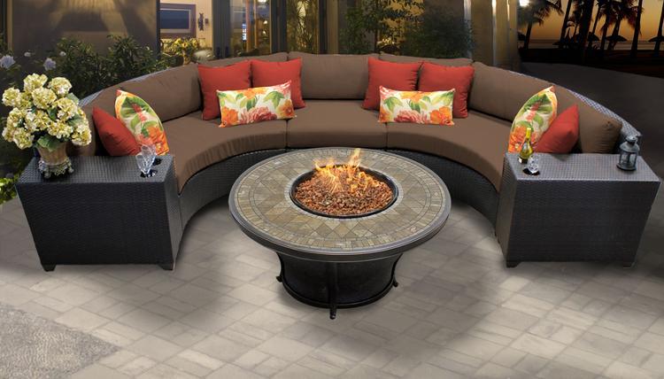 Barbados 6 Piece Outdoor Wicker Patio Furniture Set 06a