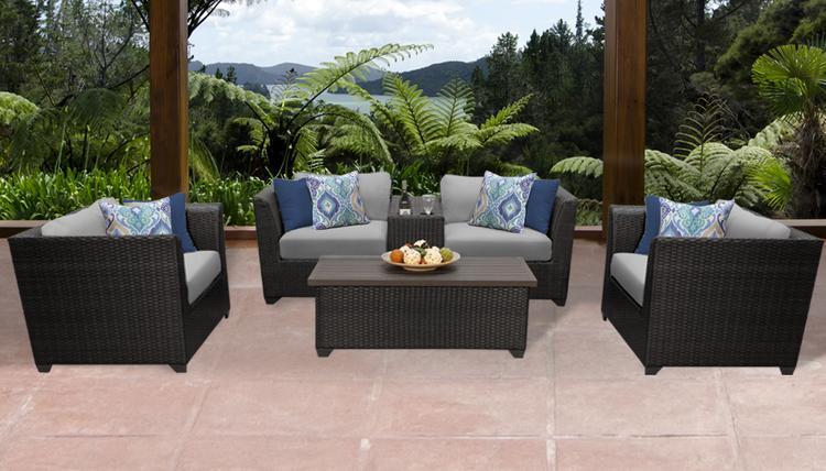 Barbados 6 Piece Outdoor Wicker Patio Furniture Set 06d