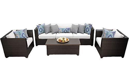 Barbados 6 Piece Outdoor Wicker Patio Furniture Set 06g