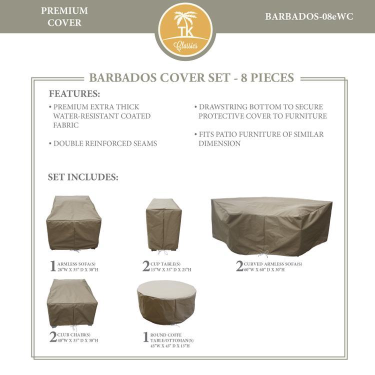 BARBADOS-08e Protective Cover Set, in Grey