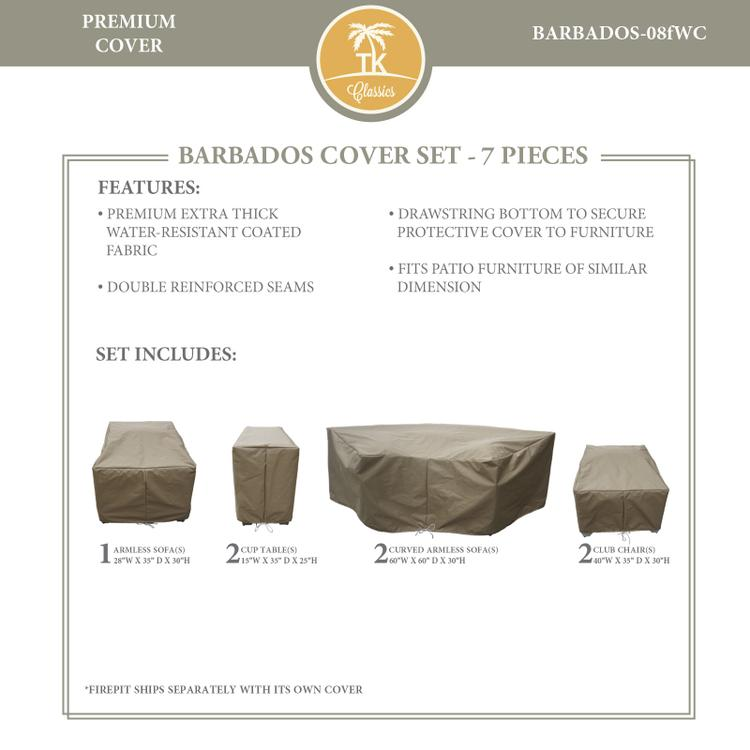BARBADOS-08f Protective Cover Set, in Grey