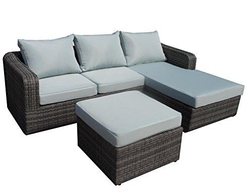 Luies 3-Piece All-Weather Wicker Patio Conversation Set