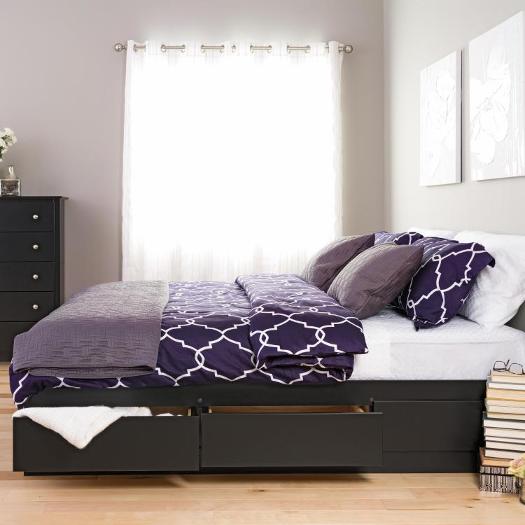Prepac King 6 drawer Platform Storage Bed