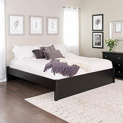 Prepac King Select 4-Post Platform Bed, Black