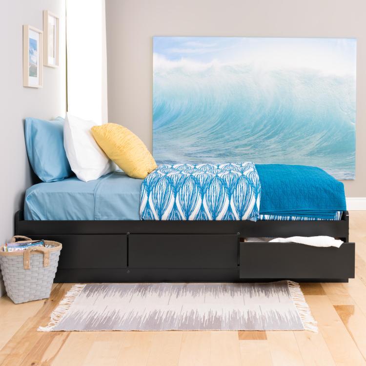 Twin XL 3 drawer Platform Storage Bed