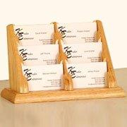 6 Pocket Countertop Business Card Holder