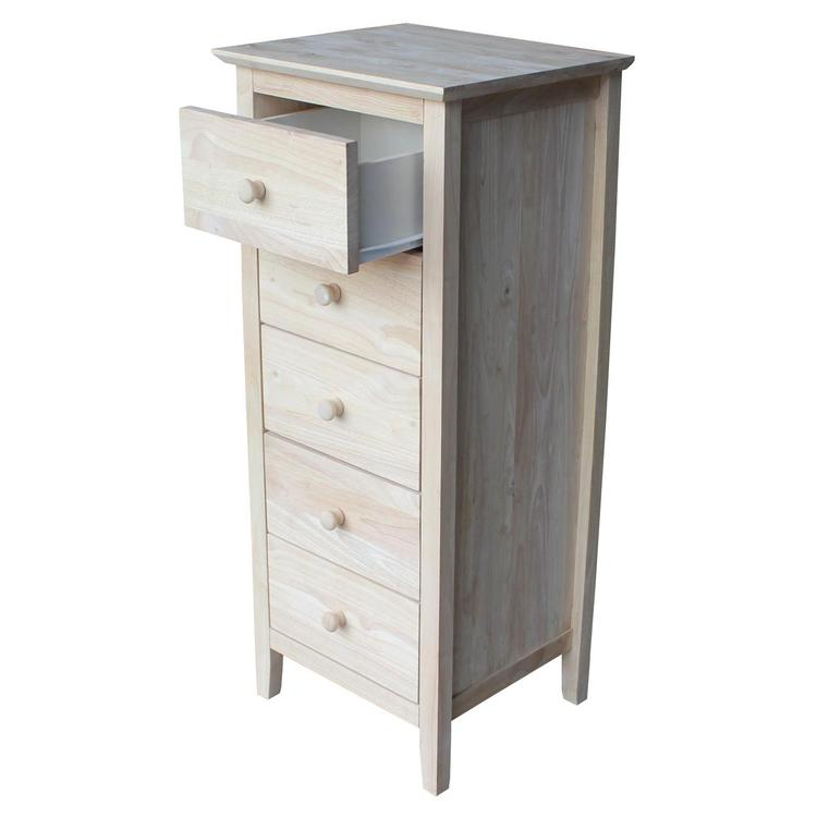 International Concepts Lingerie Chest with 5 Drawers