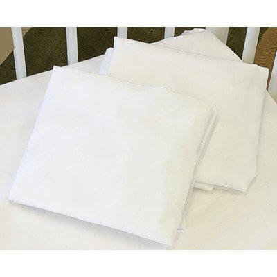 Fitted Full Size Crib Sheet in 100% Natural Cotton Fabric