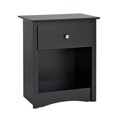 Sonoma 1-drawer Tall Nightstand, Black [Item # BDC-2401]