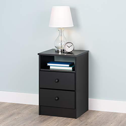 Prepac Astrid 2-Drawer Nightstand, Black