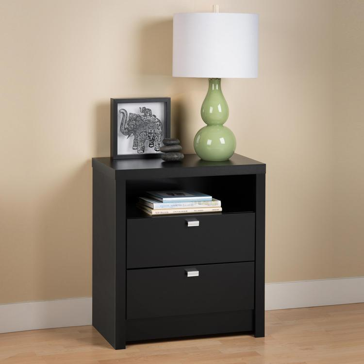 Series 9 Designer - Tall 2 Drawer Nightstand