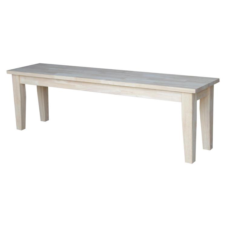 International Concepts Shaker Style Bench