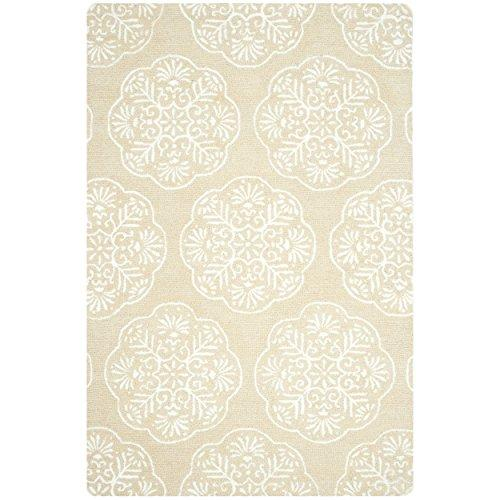Contemporary Rug - Bella Wool Pile -Beige/White