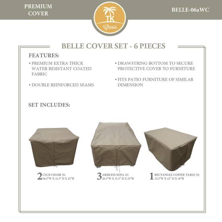 BELLE-06a Protective Cover Set, in Grey