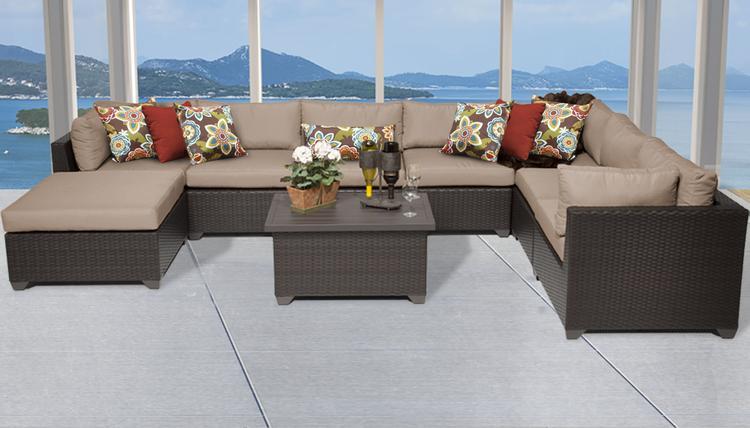 Belle 9 Piece Outdoor Wicker Patio Furniture Set 09b