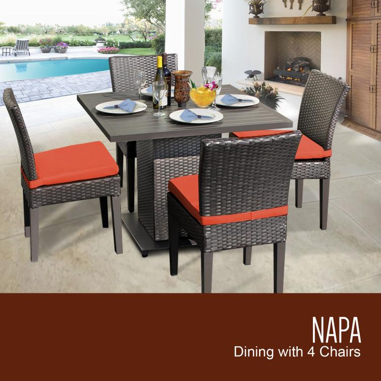 Belle Square Dining Table with 4 Chairs