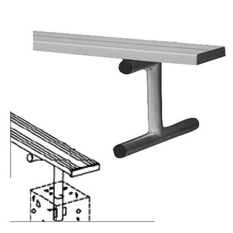 BSN Sports Anodized Aluminum In-Ground Player's Bench Without Back [Item # BEPD21]