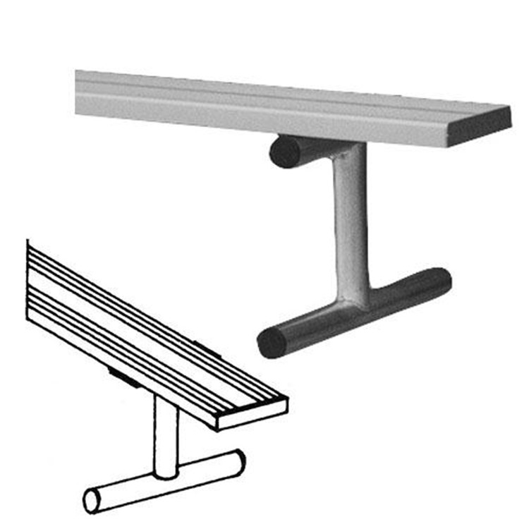 BSN Sports Anodized Aluminum Portable Player's Bench Without Back [Item # BEPI15]