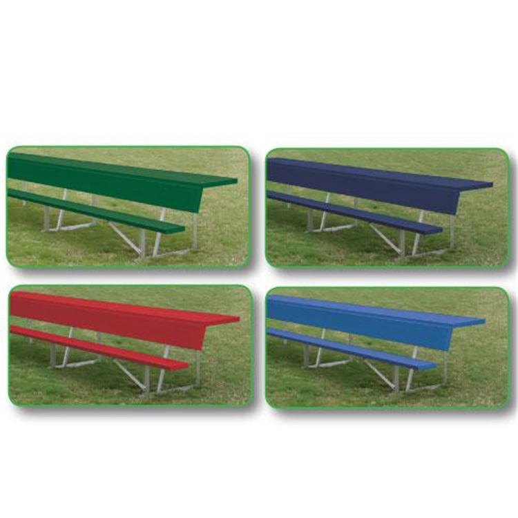 15' Players Bench With Shelf (colored), Color Blue