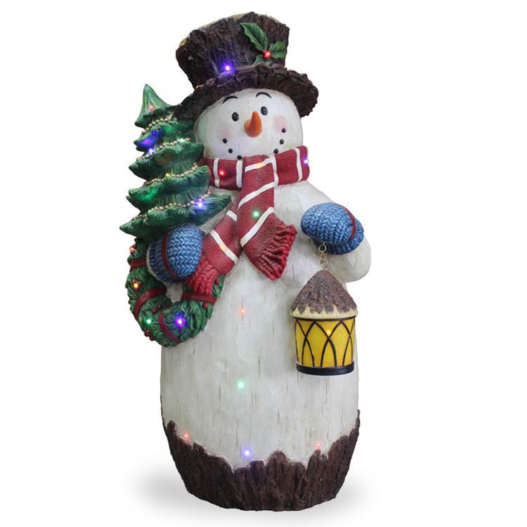 National Tree Pre-Lit Snowman Decoration