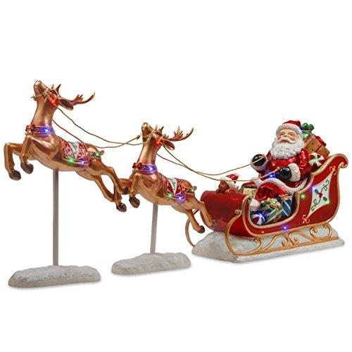 National Tree Santa?s Sleigh and Reindeer Assortment