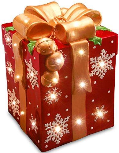 National Tree Pre-Lit Gift Box Decoration