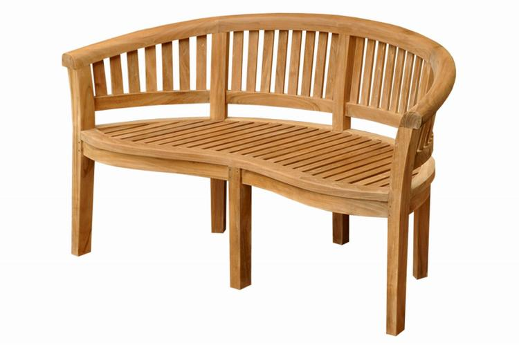 Anderson Teak Curve 3 Seater Bench Extra Thick Wood