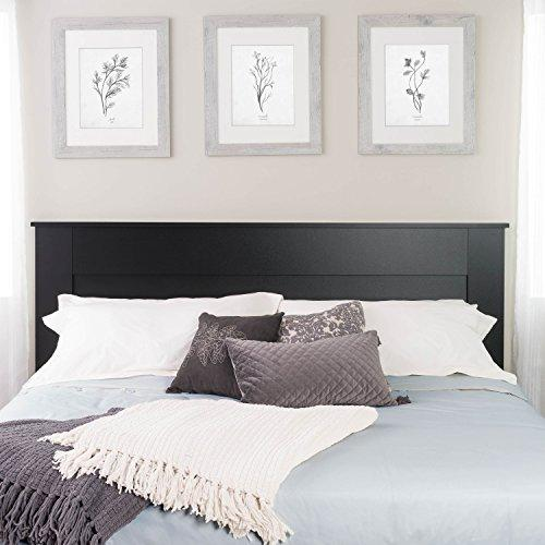 Prepac King Flat Panel Headboard, Black