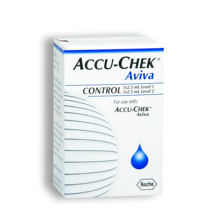 Accu-Chek Aviva 2 Level Glucose Control Solution, Program High/Low