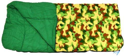 Big Kids Slumber Bag Camouflage Green