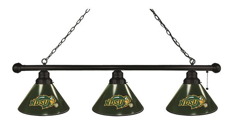 North Dakota State 3 Shade Billiard Light with Green Shades