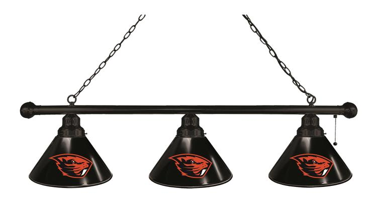Oregon State 3 Shade Billiard Light