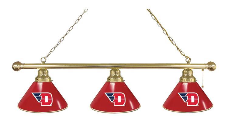 University of Dayton 3 Shade Billiard Light