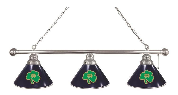 Notre Dame (Shamrock) 3 Shade Billiard Light