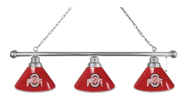 Ohio State 3 Shade Billiard Light