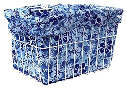 Blue Hawaiian Hibiscus Bicycle Basket Liner