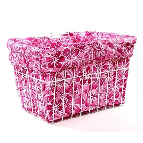 Pink Hawaiian Bicycle Basket Liner