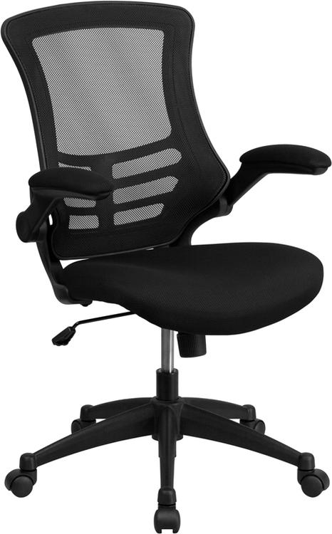 Mid-Back Swivel Task Chair With Flip-Up Arms