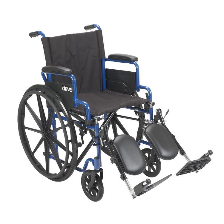 Drive Medical Blue Streak Wheelchair with Flip Back Desk Arms [Item # bls20fbd-elr]