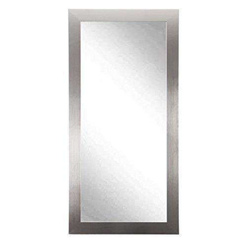 Modern Silver Nickel 32 x 65.5 Dressing Vanity Floor Wall Mirror