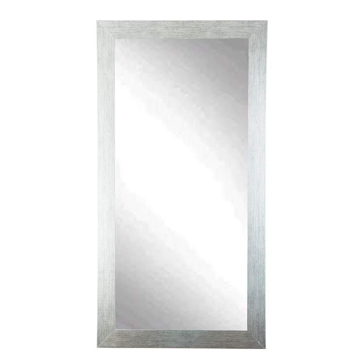 Silver Black Grain 32 x 65.5 Tall Floor Dressing Vanity Wall Mirror