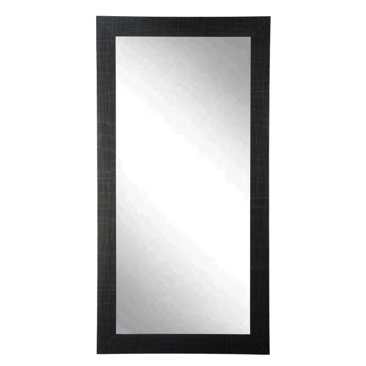 BrandtWorks Modern Style Scratched Leaning Floor Mirror