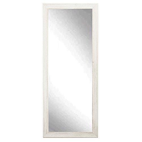 BrandtWorks Coastal Whitewood Floor Dressing Vanity Wall Mirror