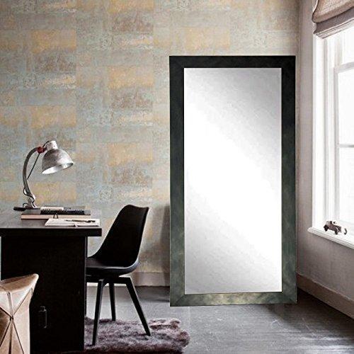 Clouded Gunmetal Dressing Leaning Floor Vanity Wall Mirror