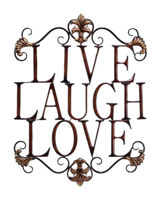 Benzara Benzara Live Laugh Love Metal Wall Art