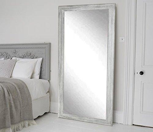 Weathered Barnwood Full Length Leaning Wall Mirror